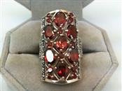 Almandite Garnet Lady's Silver & Stone Ring 925 Silver 11.6g